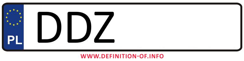 Car plate DDZ, city Dzierżoniów