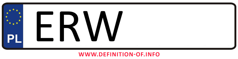 Car plate ERW, city Rawa Mazowiecka