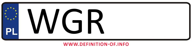 Car plate WGR, city Grójec