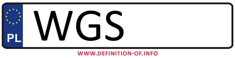 Car plate WGS, city Gostynin