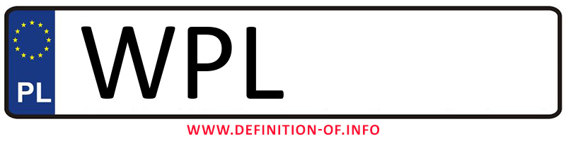 Car plate WPL, city Płock powiat