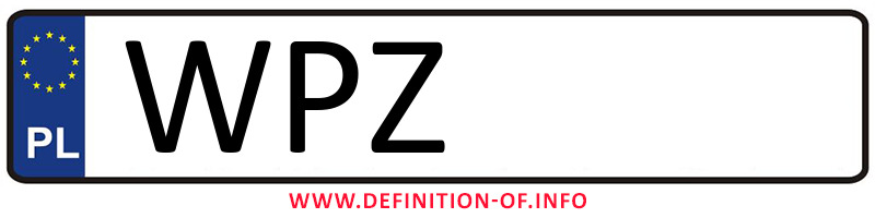 Car plate WPZ, city Przasnysz