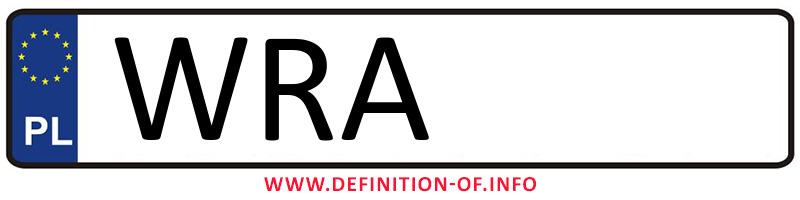 Car plate WRA, city Radom powiat