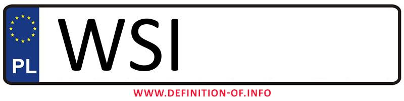 Car plate WSI, city Siedlce powiat