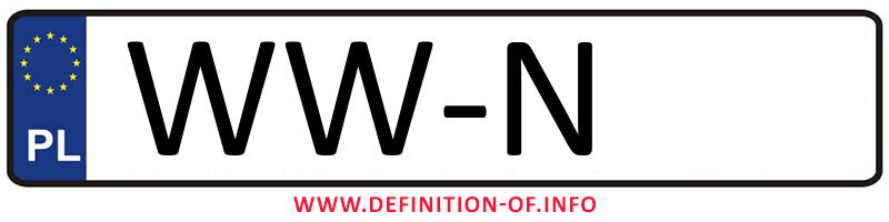 Car plate WW-N, city Warszawa-Włochy